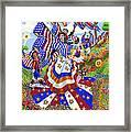 Angel Of American Patriotism Framed Print by Jacquelin Vanderwood