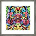 Arcturian Ascension Grid Framed Print by Teal Eye  Print Store