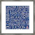 Arizona College Colors Subway Art Framed Print by Replay Photos