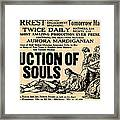 Auction Of Souls Framed Print by Digital Reproductions