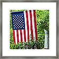 Back Porch Americana Framed Print by Carolyn Marshall