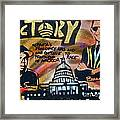 Barack And Russell Simmons Framed Print by Tony B Conscious