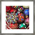 Basketful Of Christmas Ornaments Framed Print by Garry Gay