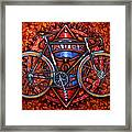 Bates Bicycle Framed Print by Mark Howard Jones