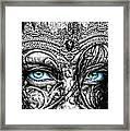 Behind Blue Eyes Framed Print by Mo T
