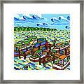 Big Dock - Cedar Key Framed Print by Mike Segal