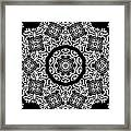 Black And White Medallion 10 Framed Print by Angelina Vick