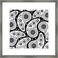 Black And White Paisley Framed Print by Frank Tschakert
