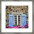 Blue Shutters Framed Print by Elena Elisseeva