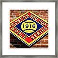 Boston Red Sox 1916 World Champions Framed Print by Stephen Stookey