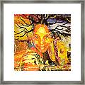 Brain Of Baobab Framed Print by Fania Simon