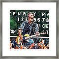 Bruce Springsteen At Fenway Park Framed Print by Dave Olsen