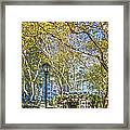 Bryant Park Afternoon Framed Print by Richard Trahan