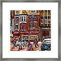 Cafe Bistro La Marinara Framed Print by Carole Spandau
