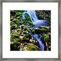 Cascade Creek Framed Print by Chad Dutson