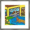 Cedar Key Snoozer Framed Print by Mike Segal
