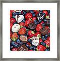 Chocolates And Strawberries Framed Print by Tim Gainey