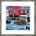 Christmas Shopping In Concord Center Framed Print by Rita Brown