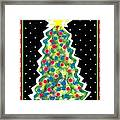 Christmas Tree Polkadots Framed Print by Genevieve Esson