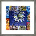 Circle Tree Collage Framed Print by Cathy Jacobs