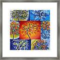 Circle Trees Framed Print by Cathy Jacobs