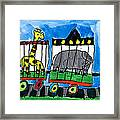 Circus Train Framed Print by Max Kaderabek Age Eight