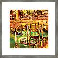 City - Vegas - Venetian - The Venetian At Night Framed Print by Mike Savad