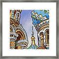 Colors Of Russia St Petersburg Cathedral II Framed Print by Irina Sztukowski