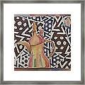 Dallah And Arabesque Motif Framed Print by Beena Samuel