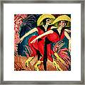 Dancers In Red Framed Print by Ernst Ludwig Kirchner
