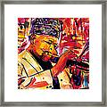 Dizzy Gillespie Framed Print by Everett Spruill