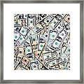 Dollar Background Framed Print by Olivier Le Queinec