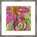 Doodle Flowers Framed Print by Donniece Smith