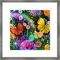 Double Dahlia Flower Party Framed Print by Alixandra Mullins