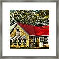 Drake's Inn On Seventh Lake Framed Print by David Patterson
