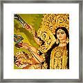 Durga Idol Framed Print by Money Sharma