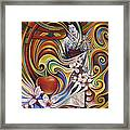 Dynamic Blossoms Framed Print by Ricardo Chavez-Mendez