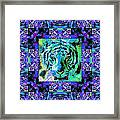 Eyes Of The Bengal Tiger Abstract Window 20130205m80 Framed Print by Wingsdomain Art and Photography