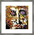 Face Series 4 Knowing Framed Print by Michelle Dommer
