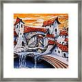Fairy Tale City - Magic Stream Framed Print by Emerico Imre Toth