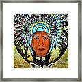 Feathers And Antlers Framed Print by Linda Egland