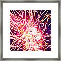 Fireworks At Night 6 Framed Print by Lanjee Chee
