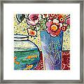 Fish Bowl And Posies Framed Print by Diane Fine