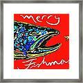 Fishmas Trout Framed Print by Owl Jones
