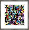 Flower Power Framed Print by Tim Gainey