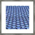 Folding Plastic Blue Seats Framed Print by Dutourdumonde Photography