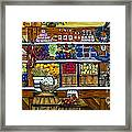 Fruit And Vegetable Market By Alison Tave Framed Print by Sheldon Kralstein