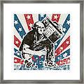 George Washington - Boombox Framed Print by Pixel Chimp