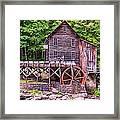 Glade Creek Grist Mill Framed Print by Steve Harrington