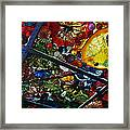 Glass Ceiling Abstract Framed Print by Valerie Garner